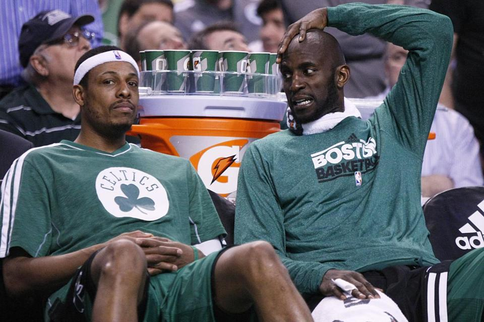 Paul Pierce won't retire a Celtic, nor will Kevin Garnett vigorously motion to the TD Garden crowd again.